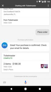 Google Assistant Order Complete