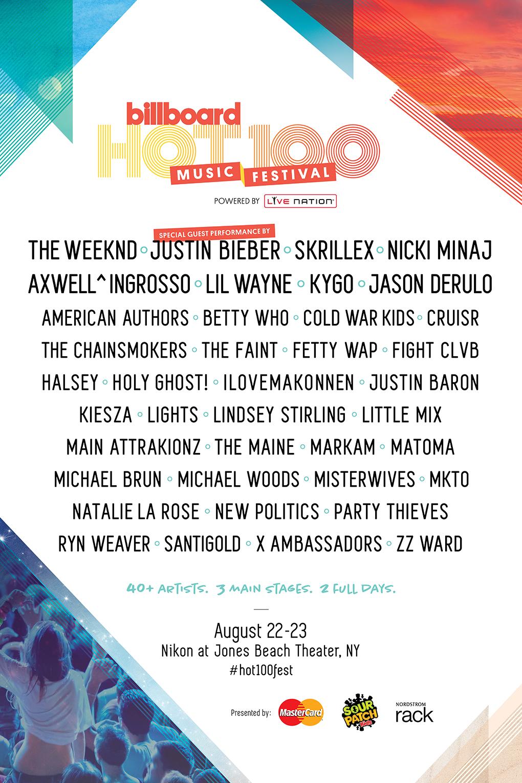 billboard hot 100 festival 2015 lineup