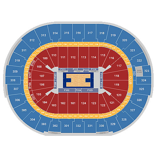 new orleans pelicans seating chart - smoothie king center