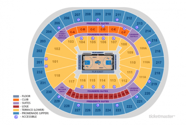 orlando magic seating chart - amway center