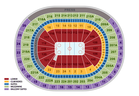 philadelphia flyers seating chart - wells fargo center