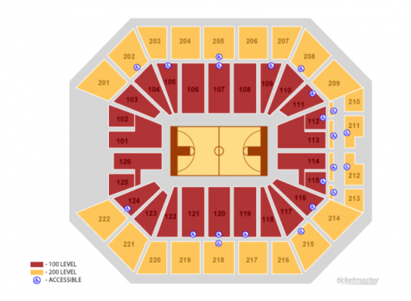 sacramento kings seating chart - golden 1 center