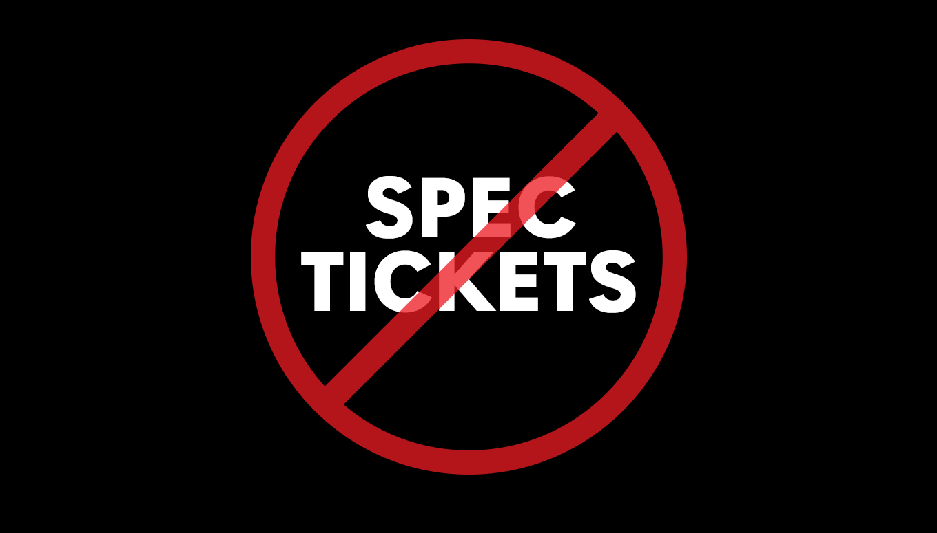 """What is """"Speculative"""" Ticket Listing?"""