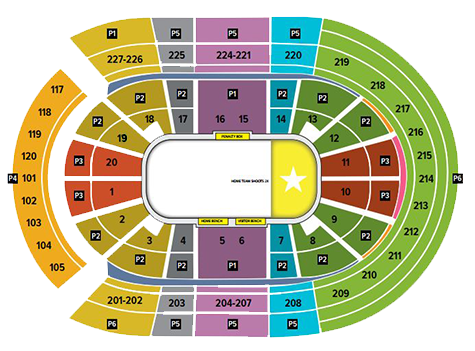 vegas golden knights seating chart - t-mobile arena